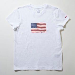 Mサイズ【RalphLauren】Tシャツ NAVY FLAG S/S T-SHIRT ホワイト