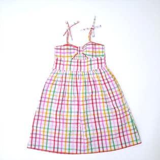 3-4才用[CathKidston]子供服 ワンピース STRAWBERRY GINGHAM