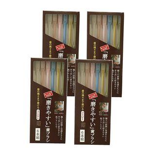 【24本】歯ブラシ職人 田辺重吉考案 磨きやすい歯ブラシ 先細 6本組×4個セット