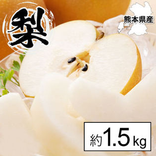 【約1.5kg】熊本県産 梨《個数・品種おまかせ》(ご家庭用・傷あり)