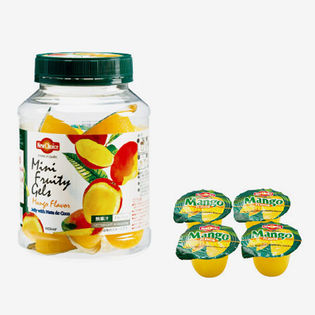 【4個】ニューチョイス ナタデココ入り マンゴ味ゼリー(224g)
