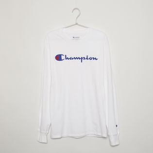 【Sサイズ】[CHAMPION]メンズ CLASSIC GRAPHIC L/S TEE ホワイト