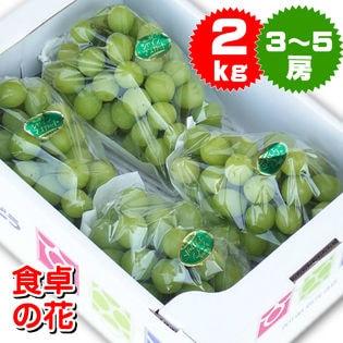 【予約申込】10月発送分シャインマスカット (岡山・長野・香川・山梨)2kg(3-5房)