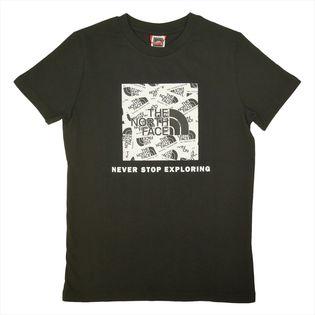 【ブラック/ユースLサイズ】[THE NORTH FACE]Tシャツ Y S/S BOX TEE