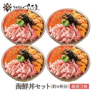 【約4杯分】厳選三種《海鮮丼セット》