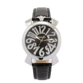 上部リューズ式 36mmミッドサイズ ユニセックス SRF9-SVBK メンズ腕時計
