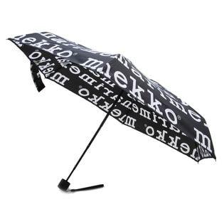 [marimekko]折り畳み傘 MINI MANUAL MARILOGO ブラック
