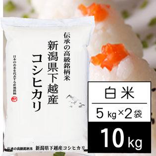 【10kg】 越後の米 令和2年産 新潟県産 コシヒカリ白米5kgx2袋
