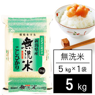 【5kg】 越後の米 令和2年産 新潟県産 コシヒカリ無洗米5kgx1袋