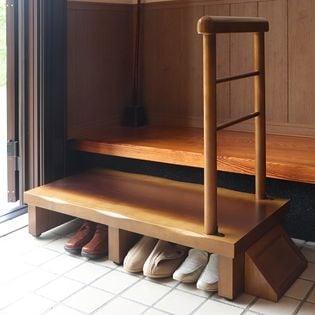 【睡蓮】手すり付玄関台90幅