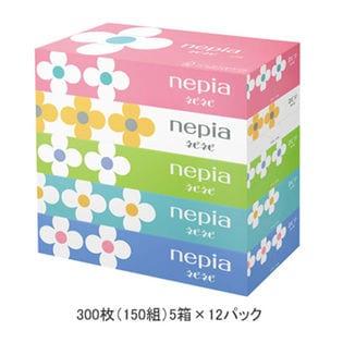 [計60箱 (150組 5箱×12パック)] ネピア/ネピネピティシュペーパー