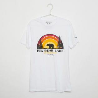 メンズLサイズ【Columbia】Tシャツ PRINT S/S TEE ホワイト
