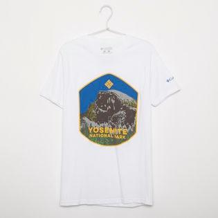メンズMサイズ【Columbia】Tシャツ PRINT S/S TEE ホワイト