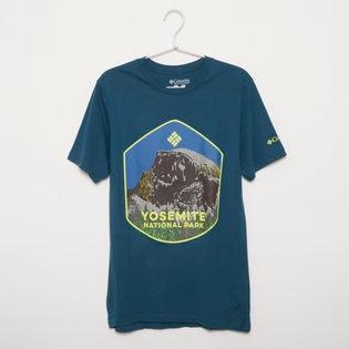 メンズLサイズ【Columbia】Tシャツ PRINT S/S TEE ブルー