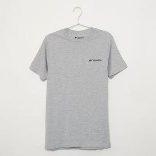 メンズXLサイズ【Columbia】Tシャツ PRINT S/S TEE グレー