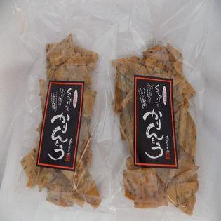 稲庭うどんの郷で作った「かりんとう」くろかり殿(黒糖味)×2袋