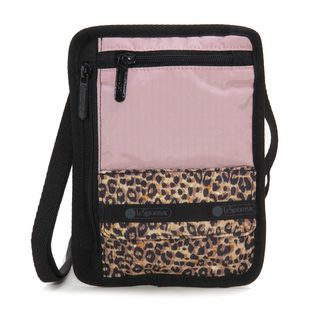[LeSportsac×X-girl]ネックポーチ TRAVEL POUCH レオパード×ピンク