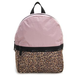 [LeSportsac×X-girl]リュック SMALL CARRIER レオパード×ピンク