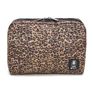 [LeSportsac×X-girl]ポーチ EXTRA LARGE COSMETIC レオパード