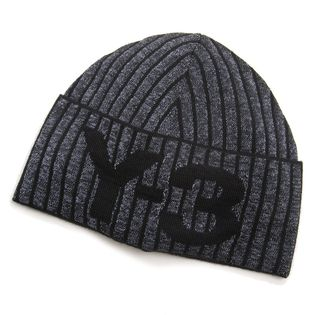 [adidasY-3]ニット帽 CH1 REFLECTIVE BEANIE(杢グレー×ブラック)