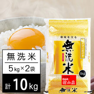【10kg】 令和2年産 山形県内陸産 (村山エリア) ひとめぼれ 無洗米 5kgx2袋