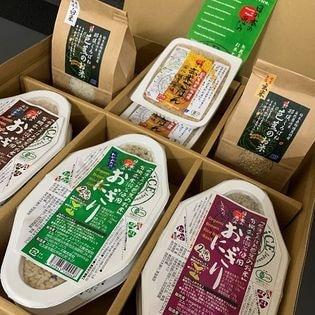 【6種10点】有機米全部入り贈答用BOX 自然栽培パック&玄米、精米セット
