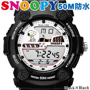 50M気圧防水【スヌーピー デジタル表示 ユニセックス 腕時計】キッズにも!