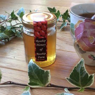 【130g×3個】ローズヒップ畑で採れたローズヒップ蜂蜜(純粋はちみつ)