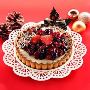 【予約受付】ベイクド・アルル クリスマス5種のベリー贅沢レアチーズタルト 5号