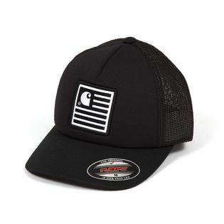【Mサイズ/ブラック】[CARHARTT] キャップ STATE PATCH TRUCKER CAP