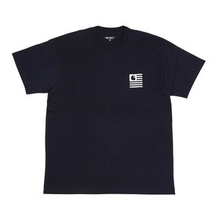 【XS/ネイビー】[CARHARTT] Tシャツ S/S STATE PATCH T-SHIRT
