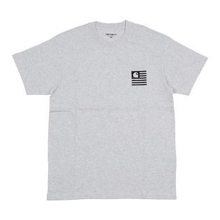 【XSサイズ/グレー】[CARHARTT] Tシャツ S/S STATE PATCH T-SHIRT