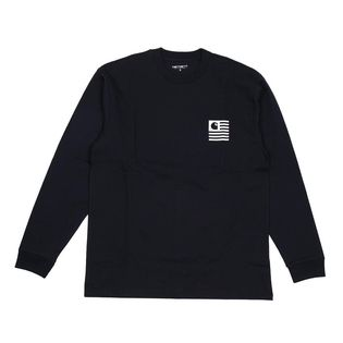 【XS/ネイビー】[CARHARTT] カットソー L/S STATE PATCH