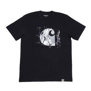 【XSサイズ/ネイビー】[CARHARTT] Tシャツ BROKEN GLASS T-SHIRT