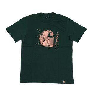 【XSサイズ/グリーン】[CARHARTT] Tシャツ BROKEN GLASS T-SHIRT