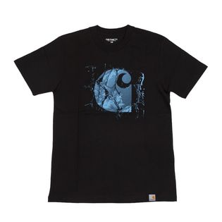 【XSサイズ/ブラック】[CARHARTT] Tシャツ BROKEN GLASS T-SHIRT