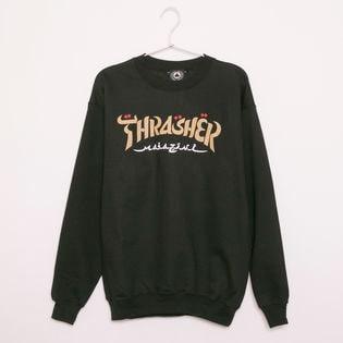 【Sサイズ/ブラック】 [THRASHER]トレーナー CALLIGRAPHY CREW