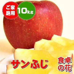 【46-26玉/10kg】サンふじ(ご家庭用) ※産地箱入り