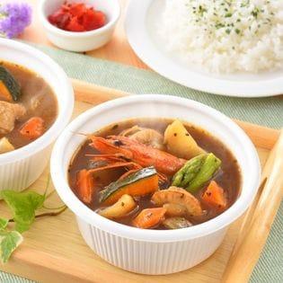 【小樽直送】北海道スープカレーセット(シーフード:300g×2、チキン:300g×2)