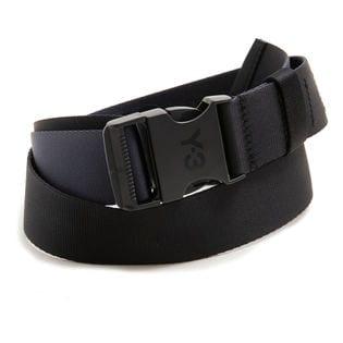Mサイズ [adidas Y-3]ベルト CH2 2TONE BELT ブラック×ネイビー