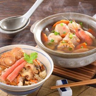 【北海道・小樽直送】つみれ鍋と海鮮おこわ詰合せ