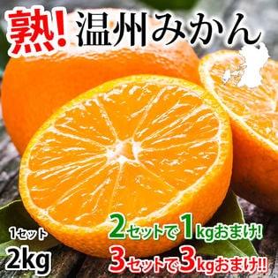 【約2kg(2S~3L)】温州みかん 熊本県産 (ご家庭用・傷あり)