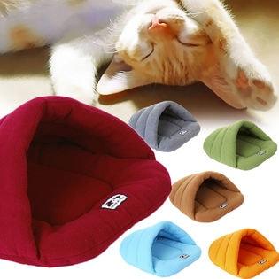 【グリーン/M】キャットハウス 猫 ハウス ベッド ベット 室内 ドーム ドームハウス