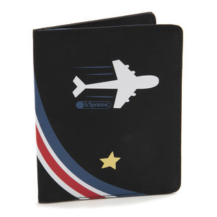 [LeSportsac]パスポートケース TRAVEL PASSPORT CASE ブラック