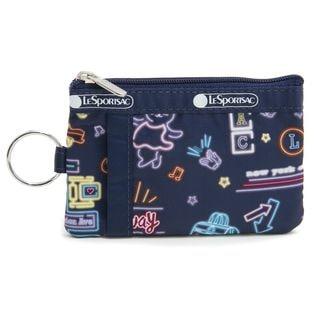 [LeSportsac]パスケース ID CARD CASE ネイビー系