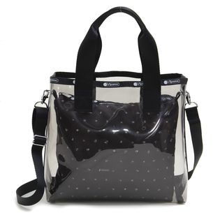 [LeSportsac]トートバッグ SM GLASS  2 IN 1 TOTE クリア×ブラック系