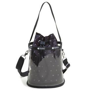 [LeSportsac]ショルダーバッグ GLASS BUCKET BAG クリア×ブラック系