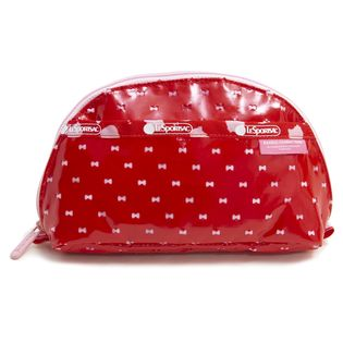 [LeSportsac×HelloKitty]ポーチ DOME COSMETIC レッド×ピンク