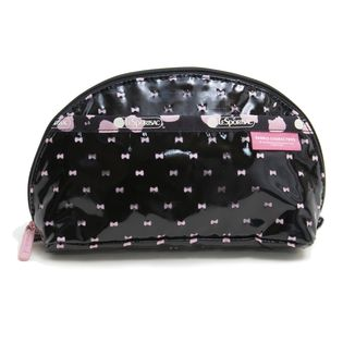 [LeSportsac×HelloKitty]ポーチ DOME COSMETIC ブラック×ピンク