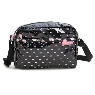 [LeSportsac]ショルダーバッグ BOW DANIELLA BAG ブラック×ピンク